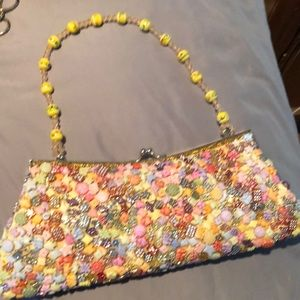 Clutch funny beaded